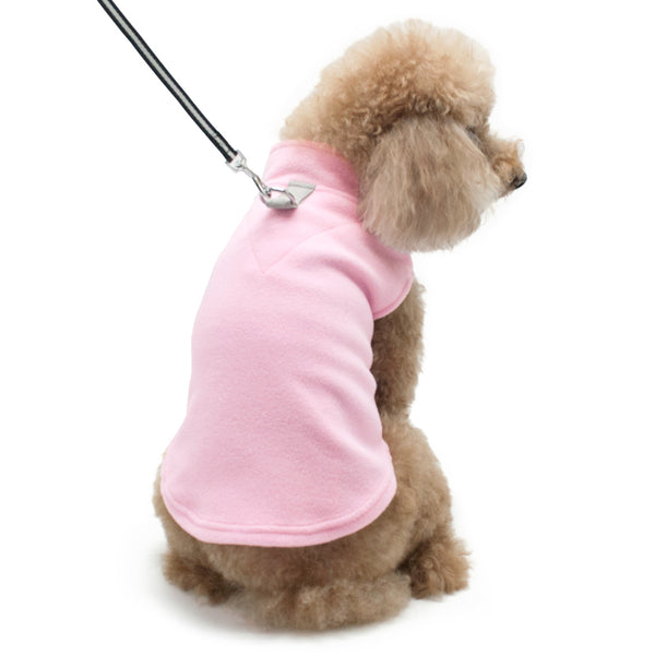 ESSENTIAL FLEECE DOG COAT VEST - PINK, Sweaters - Bones Bizzness