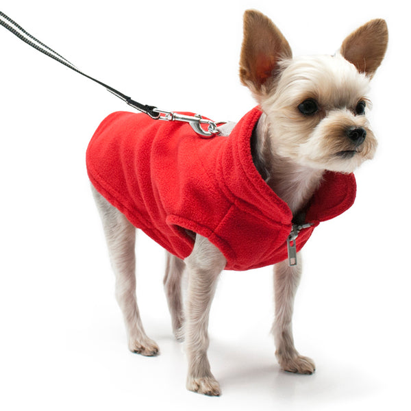 ESSENTIAL FLEECE DOG COAT VEST - RED
