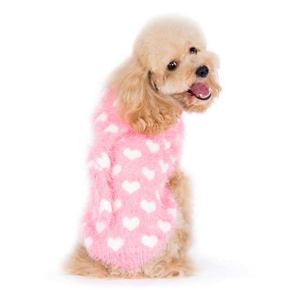 PP HEART HOODIE DOG SWEATER