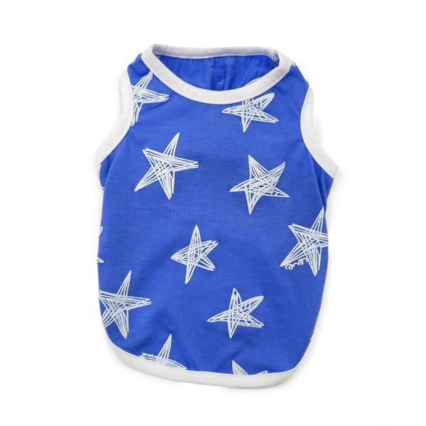 STARRY BLUE DOG TEE, Shirts Tanks & Tees - Bones Bizzness