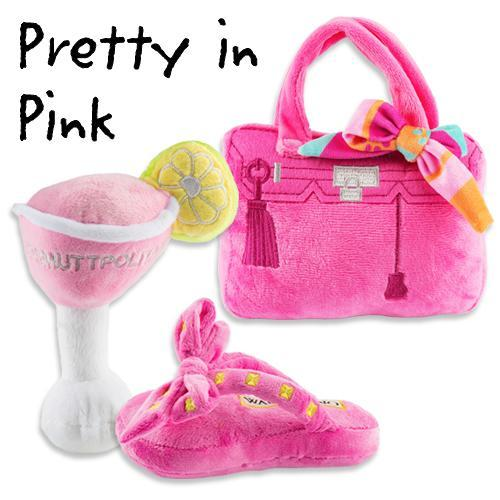 PRETTY IN PINK DOG TOY BUNDLE