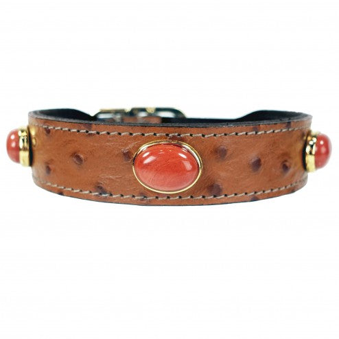 PRIVATE RESERVE IN RED JASPER DOG COLLAR