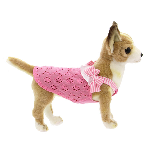 CUTE BOW EYELET DOG TANK, Shirts Tanks & Tees - Bones Bizzness