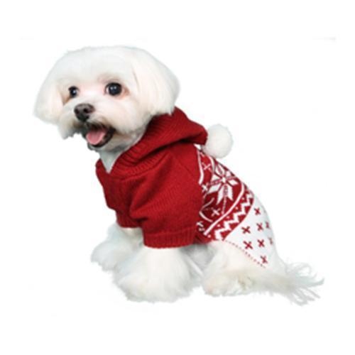 REESE DOG SWEATER - RED