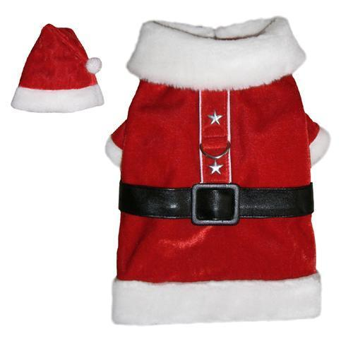 SANTA PAWS HOLIDAY DOG COAT
