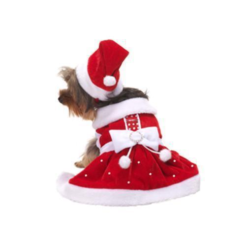 SANTA PAWS HOLIDAY DOG DRESS