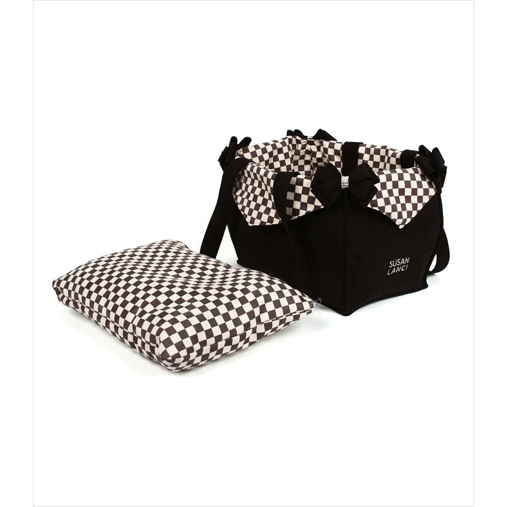 WINDSOR CHECK LUXURY PURSE DOG CARRIER - BY SUSAN LANCI, Carriers - Bones Bizzness