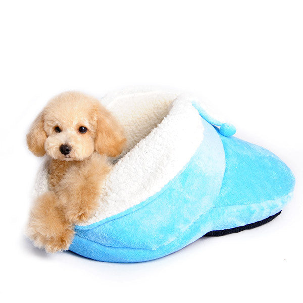 BLUE SLIPPER DOG BED, Beds - Bones Bizzness