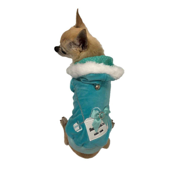 SNIFFANY SHOPPING BAG DOG HOODIE