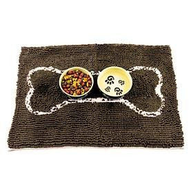SOGGY DOGGY DOG DOORMAT CHOCOLATE W/ OATMEAL BONE, Rugs - Bones Bizzness