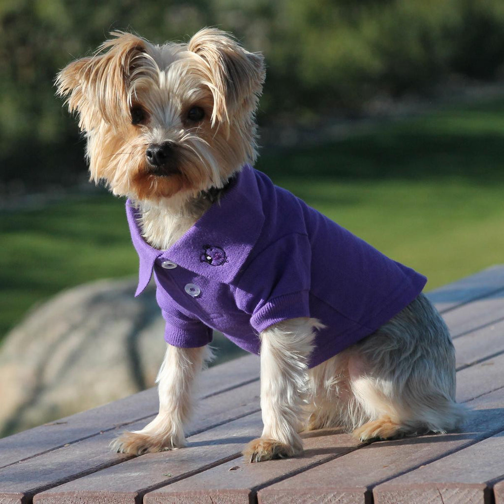 ULTRA VIOLET POLO DOG SHIRT, Shirts Tanks & Tees - Bones Bizzness