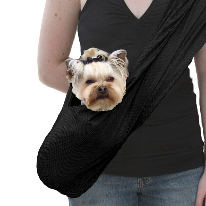 SUSAN LANCI DOG CARRIER SPORTS SLING - BLACK, Carriers - Bones Bizzness