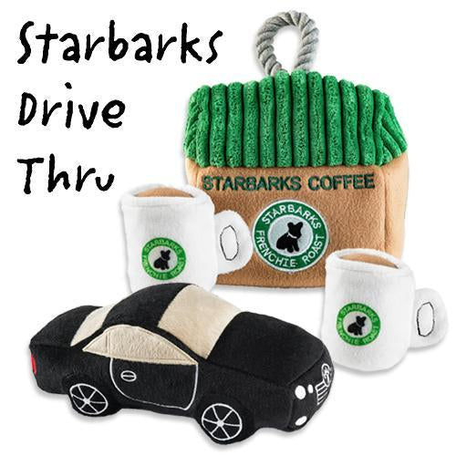 STARBARKS DRIVE-THRU DOG TOY BUNDLE