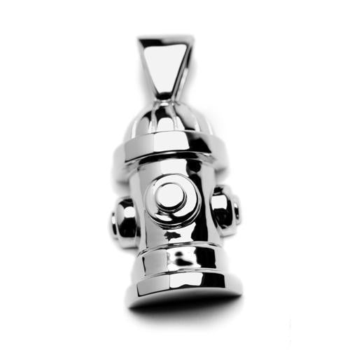 STERLING SILVER FIRE HYDRANT PENDANT
