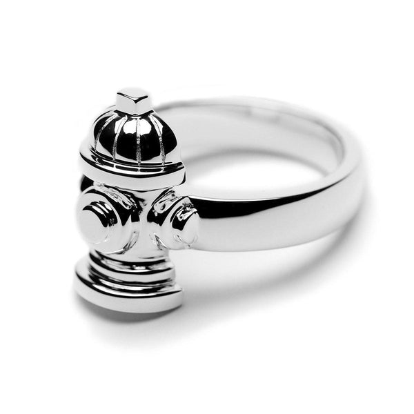 STERLING SILVER FIRE HYDRANT RING