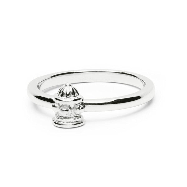 STERLING SILVER FIRE HYDRANT STACK RING