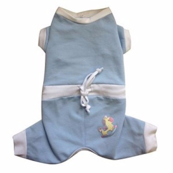BABY SNUGGLE SUIT BLUE DOG JUMPER, Pajamas - Bones Bizzness