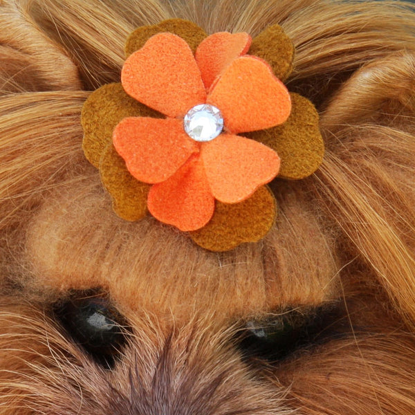 WENDY TINKIES SWAROVSKI TWO-TONE DOG HAIR BOW, HAIR BOW - Bones Bizzness