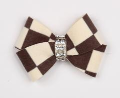 WINDSOR CHECK NOUVEAU DOG HAIR BOW, HAIR BOW - Bones Bizzness