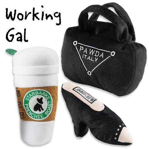 WORKING GIRL DOG TOY BUNDLE