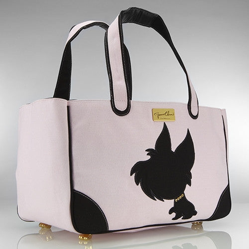 I LOVE NEW YORKIE RESCUE ME TOTE CANVAS DOG CARRIER PINK, Carriers - Bones Bizzness