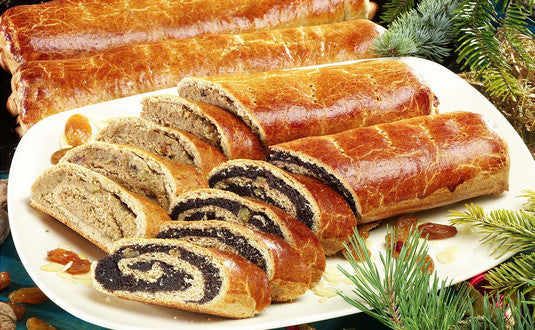 Traditional Hungarian Bejgli with Walnut Filling