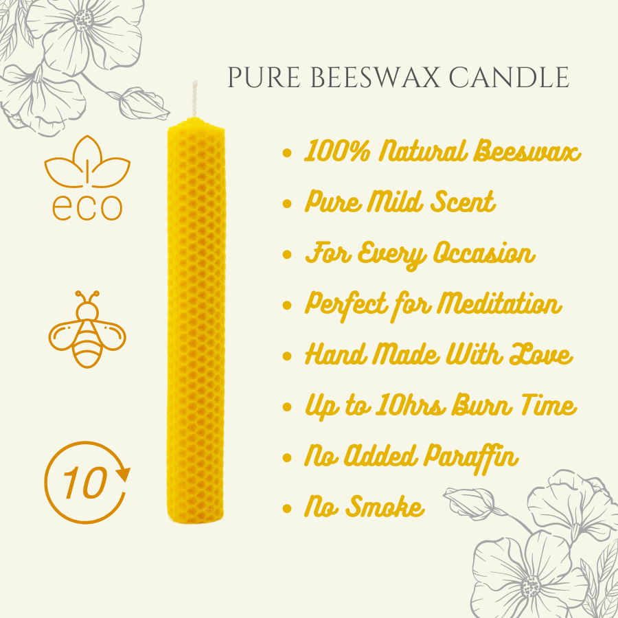 Beeswax Candle 100% Pure & Natural