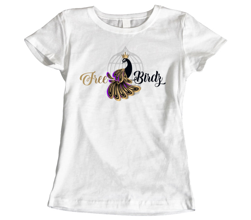 CUSTOM LADIES WHITE T-SHIRT