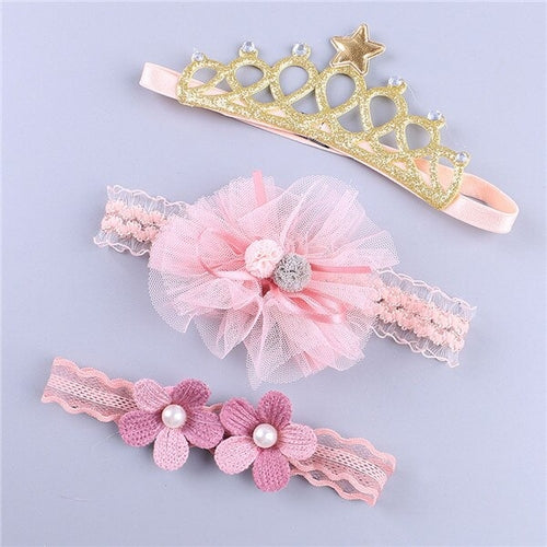 3Pcs Kid Baby Headband Baby Girls Accessories