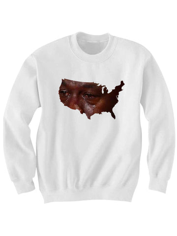 AMERICA CRYING SWEATSHIRT
