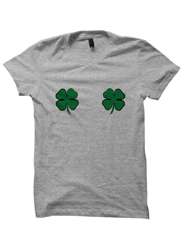 St. Patrick's Day T-shirt Clover Boobs T-Shirt