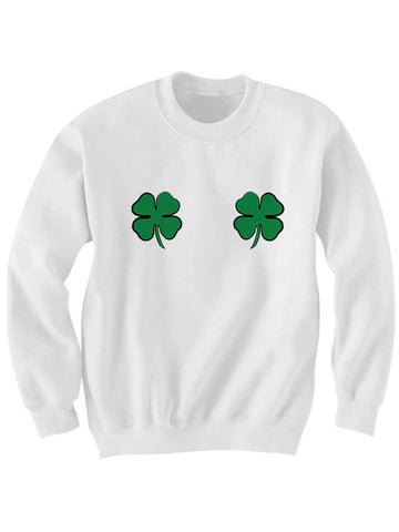 Irish Boobs Sweatshirt St. Patricks Day Sweater