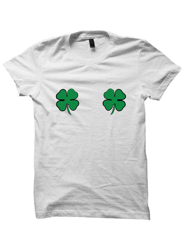 St. Patrick's Day T-shirt - Clover Boobs