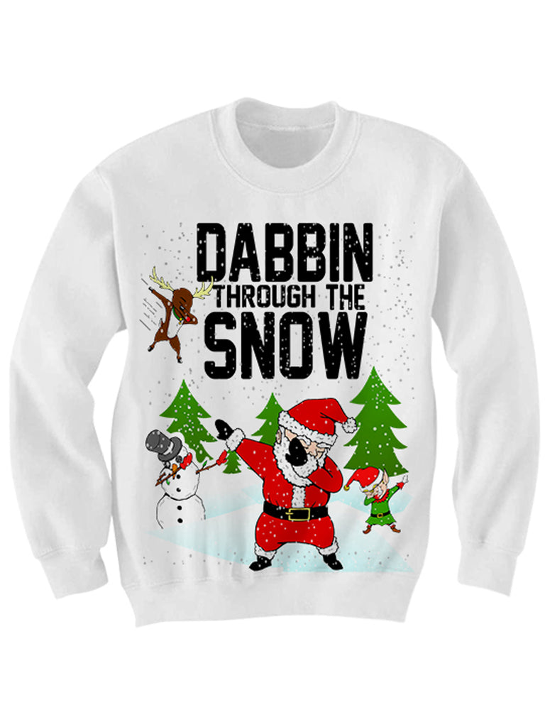 DABBING THROUGH THE SNOW CHRISTMAS SWEATER