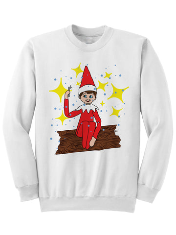 ELFIE ON A SHELF - CHRISTMAS SWEATSHIRT