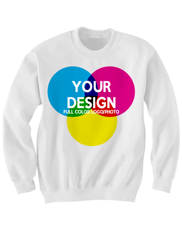 CUSTOM WHITE ADULT SWEATSHIRT