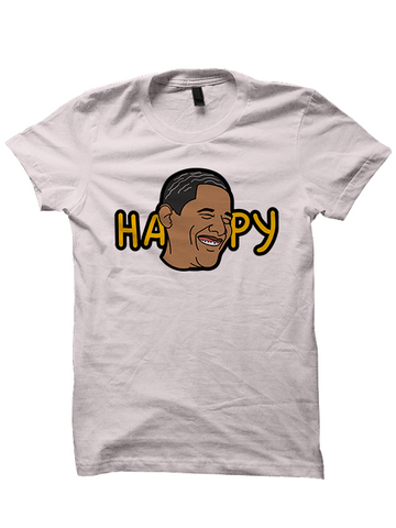 HAPPY OBAMA T-SHIRT