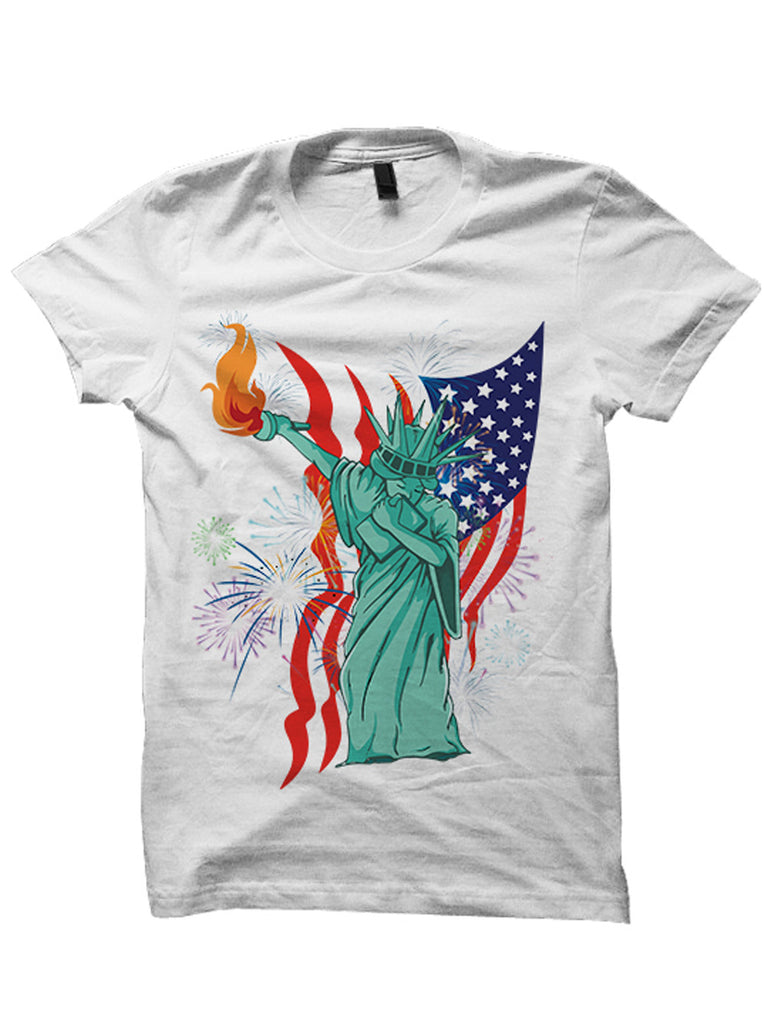 4th Of July Shirts Dabbin' Statue Of Liberty Tee Fourth Of July Inspired Fashion American Pride #StatueOfLiberty
