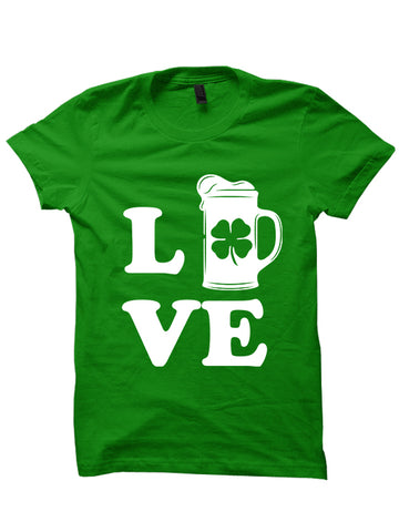 LOVE BEER - St. Patrick's Day T-shirt