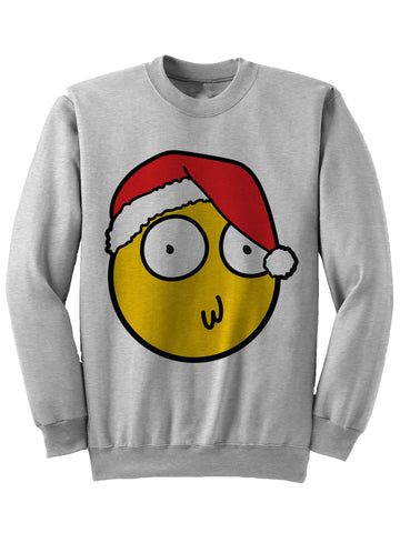 MORTY Christmas Smiley - Christmas Sweatshirt