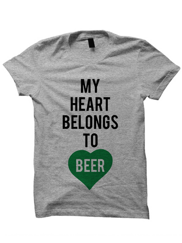 7533619ec1c MY HEART BELONGS TO BEER - St. Patrick s Day T-shirt