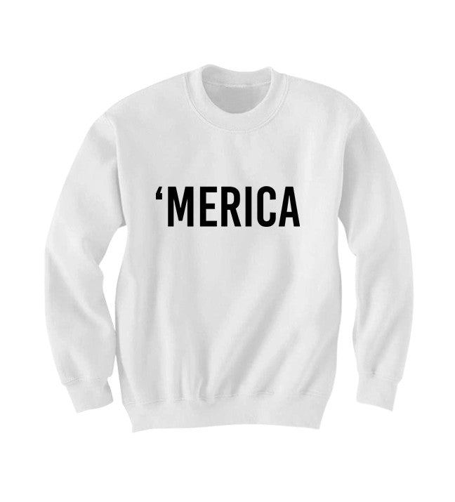 Merica Sweatshirt July 4th Sweater Fourth Of July Outfit