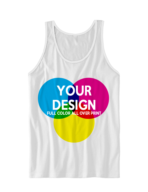 Your photo or design on a custom 2 sided all over print t-shirt or tank top UdkESldZ