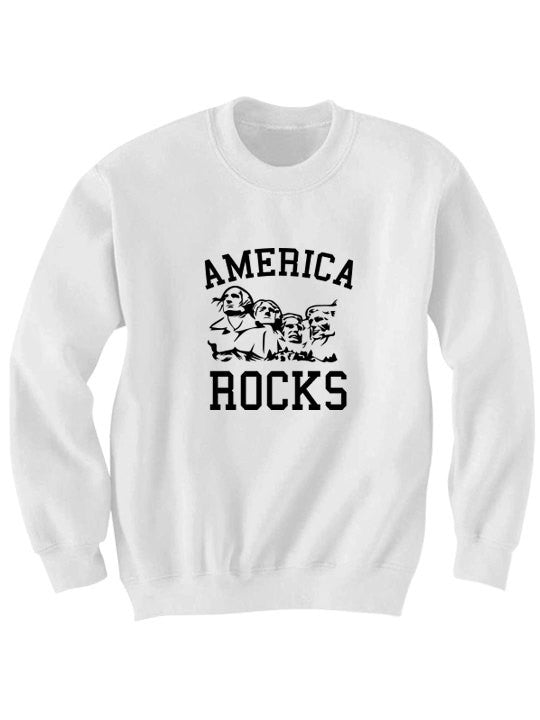 America Rocks Sweatshirt July 4th Sweater