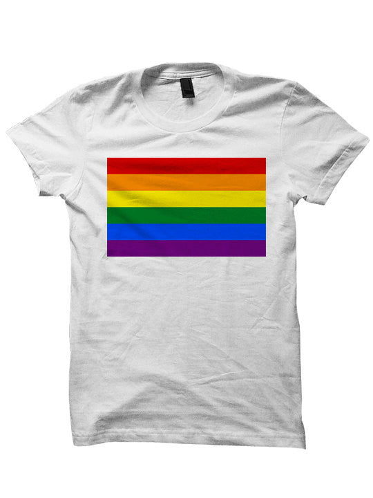 Gay Pride T-shirt Rainbow Flag Shirt