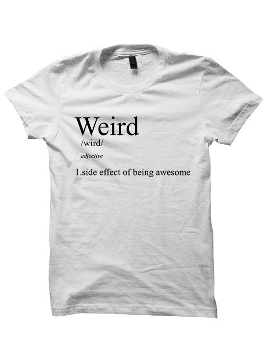 Weird Definition Sweatshirt Funny Sweaters Weird Stuff Womens Tops Mens Fashion Plus Sizes Definition Tees Back To School Clothes Cool Shirt FndTZRn