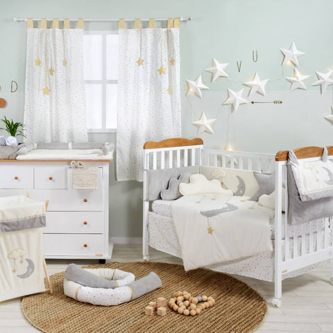 Moon and Stars Baby Bedding Set Collection