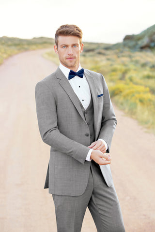 "Allure Men Heather Grey ""Clayton"" Wedding Suit"