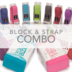 Yoga Block & Strap Combo Pack