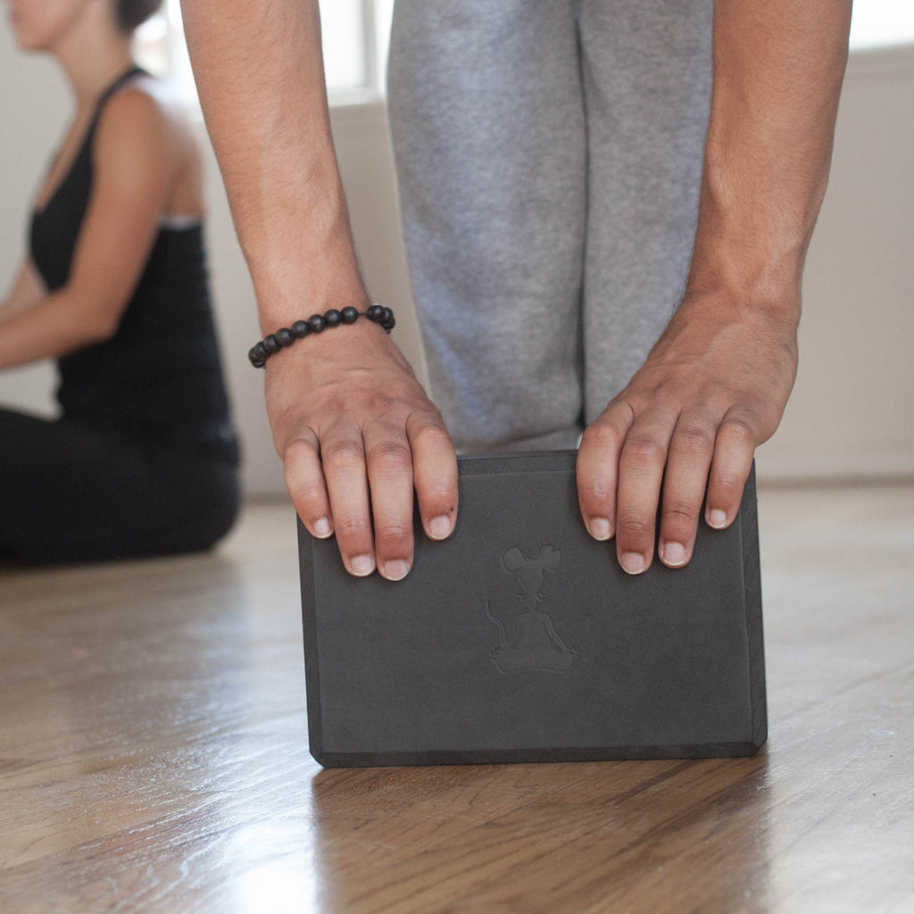 Yoga Block & Yoga Strap Combo Pack - Black